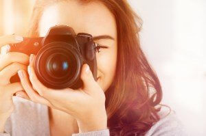 Give Thanks Through Photography - Woman Close Up DSLR Camera