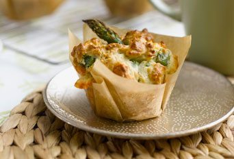 Asparagus & Cheese Brunch Muffins Recipe