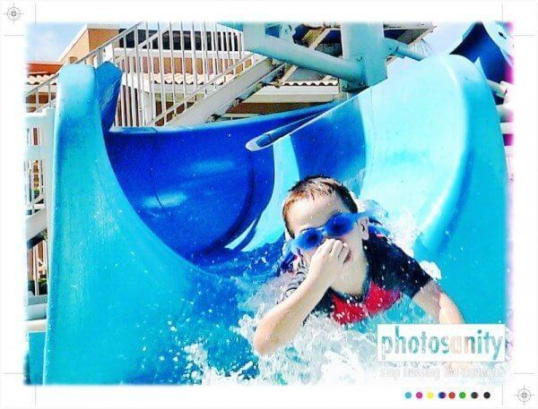 waterproof camera point and shoot water slide photo
