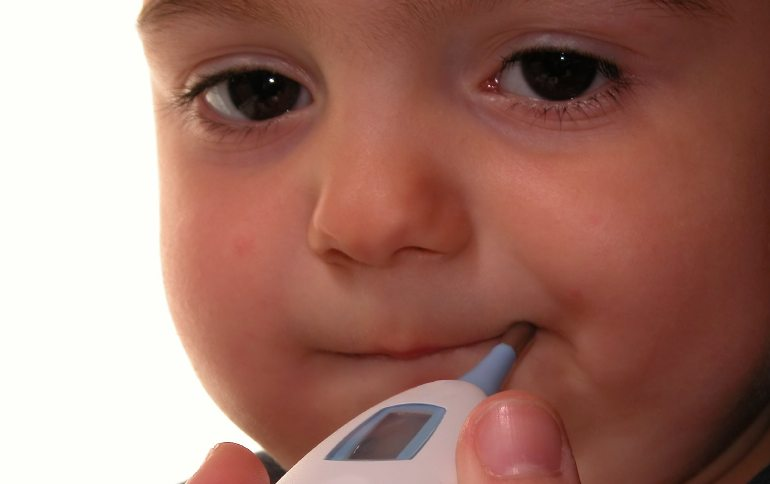 toddler with a fever