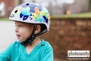 DSLR photos bike helmet