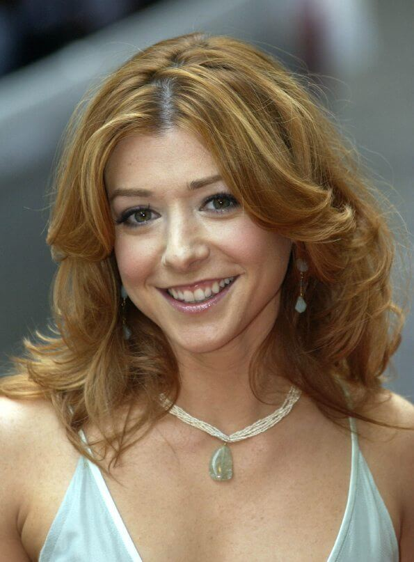 """Actress Alyson Hannigan arrives at the UK premiere of """"American Wedding"""""""