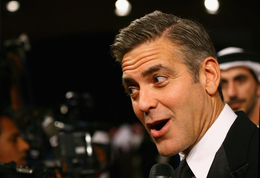 Actor George Clooney attends the opening night