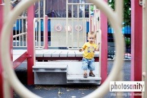 Child Making Eye Contact From Across Playground