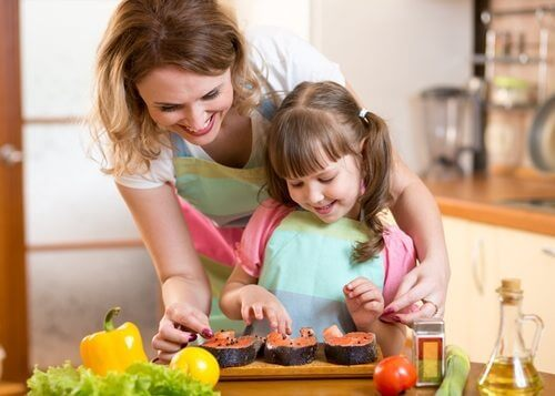 Cooking together gives you a chance to bond, and teaches your child valuable life skills.