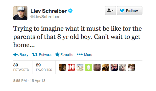 Liev Schreiber Boston Marathon Twitter Screenshot