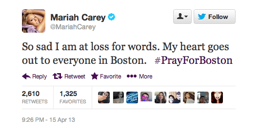 Mariah Carey Boston Marathon Twitter Screenshot
