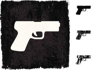 gun illustration on grunge background