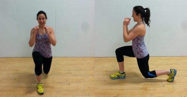 fitness woman doing a lunge