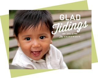 boy smiling in holiday card