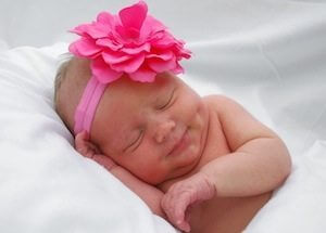picture of newborn baby sleeping