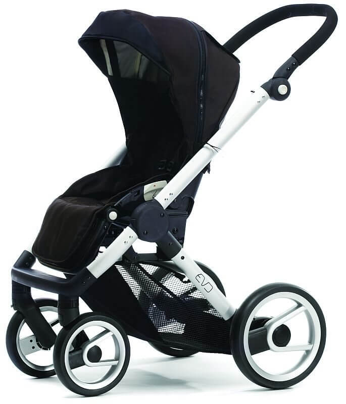 Brown and Black EVO Baby Stroller