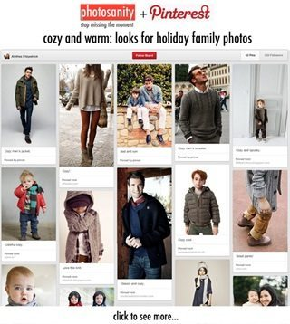 pinterest screenshot with winter clothing images