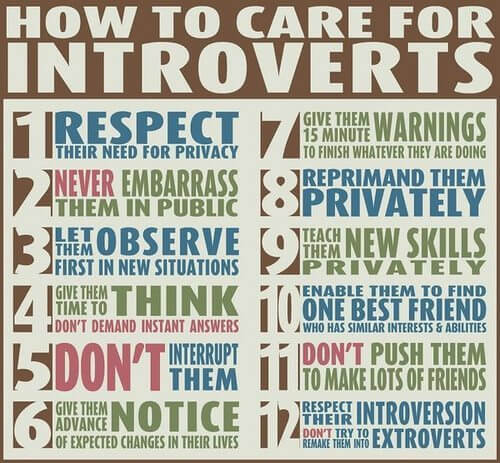 how to care for introverts inforgraph
