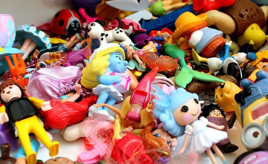 pile of various toys and figurines