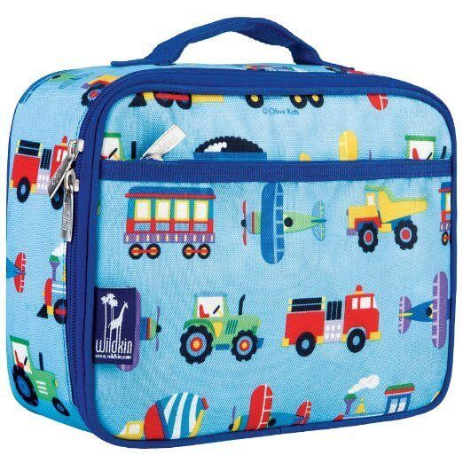 Wildkin Olive Kids Trains, Planes and Trucks Lunch Box