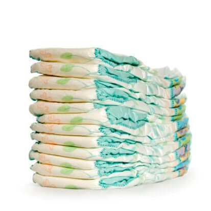 a pile of diapers