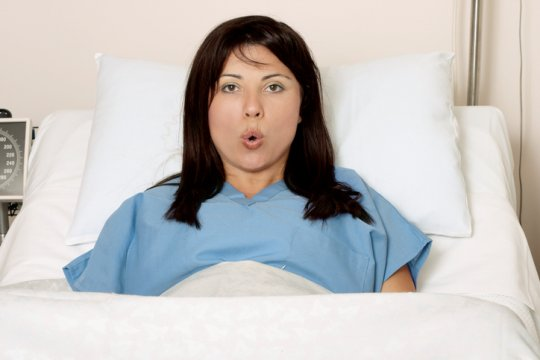 a pregnant woman going into labor