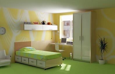 an empty clean bedroom
