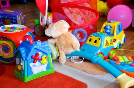 kids toys piled up