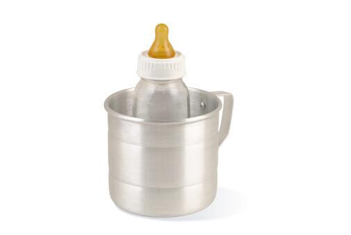a baby bottle in a warmer