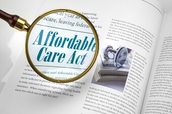 a close up of an article on the affordable health act