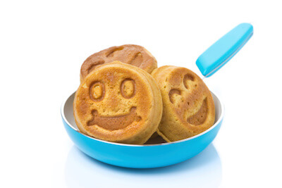 pancakes in a fry pan