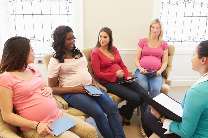 a prenatal class