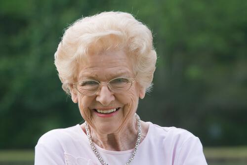 a grandma smiling