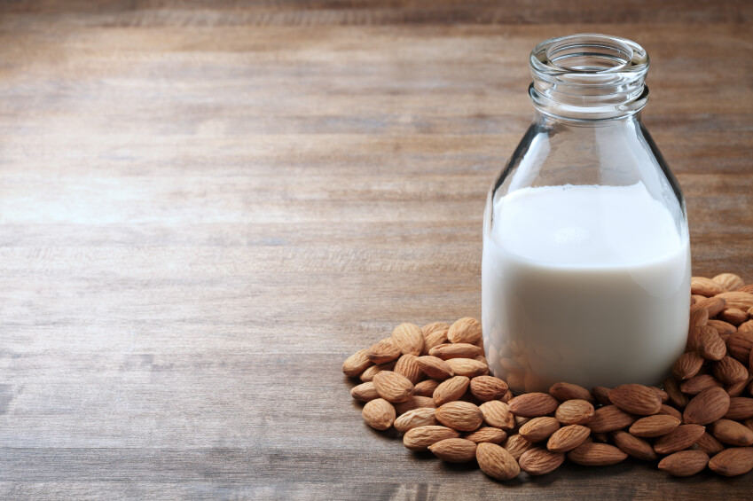 a pint of almond milk