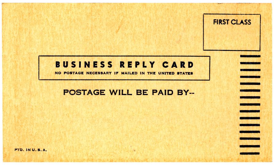 a first class envelope