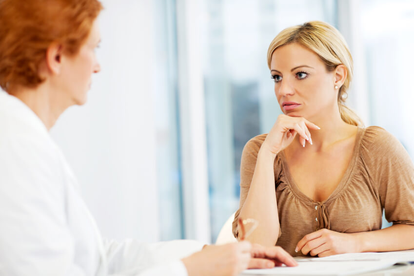 a mom visiting a psychologist