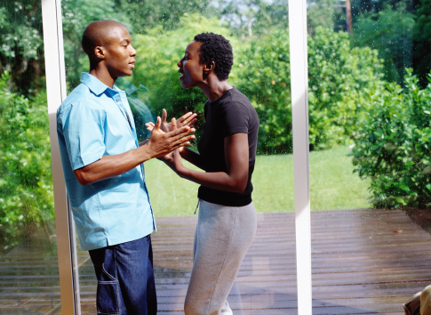 a couple having an arguement