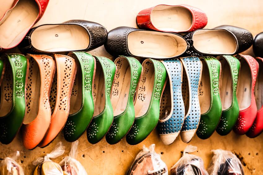 Multicoloured Moroccan slippers, Marrakesh