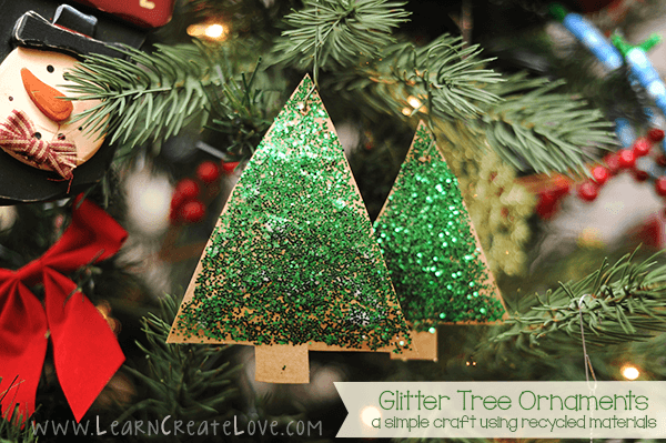 Glitter Christmas Tree Ornaments