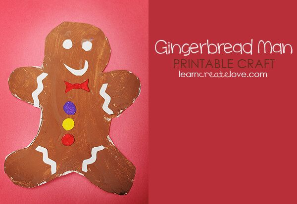 gingerbread man printable craft