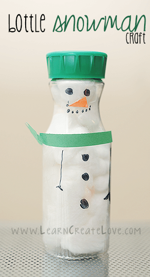 Bottle Snowman