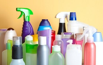 a large range of cleaning chemicals