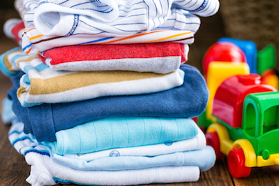 a pile of cotton clothes