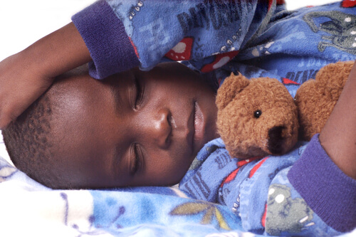 a toddler sleeping