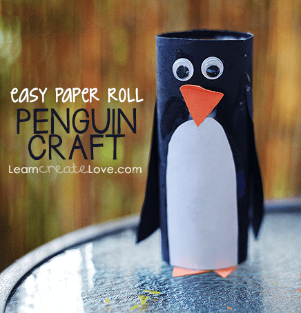 Paper Roll Penguin