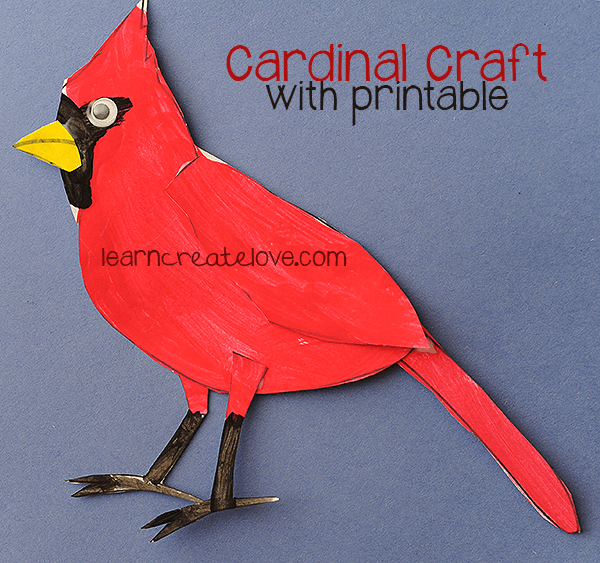 Printable Cardinal Craft