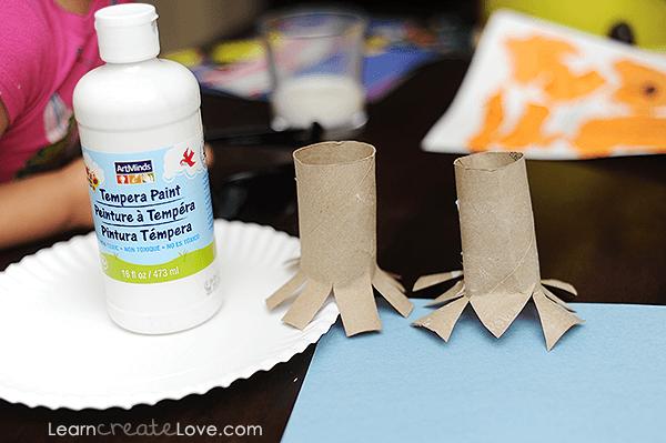 Paper Roll Snowflake Prints