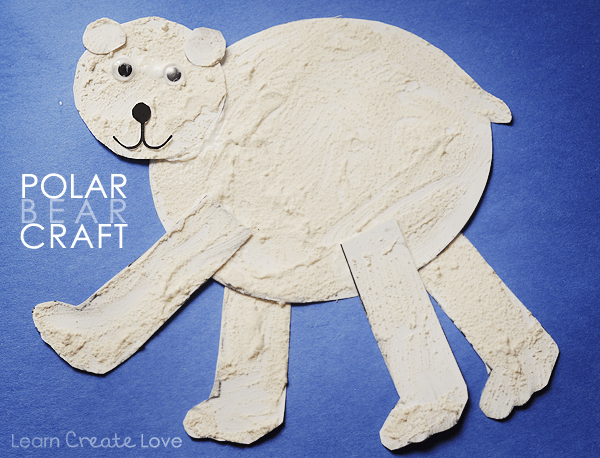 Puffy Paint Polar Bear Printable