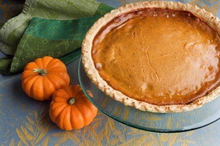 a pumpkin pie