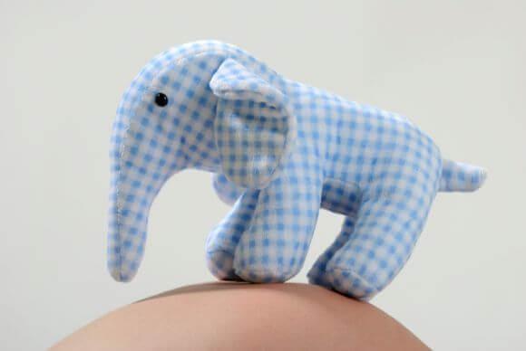a homemade toy elephant