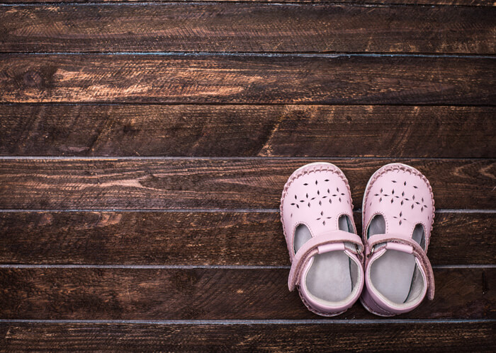 a pair of toddler shoes