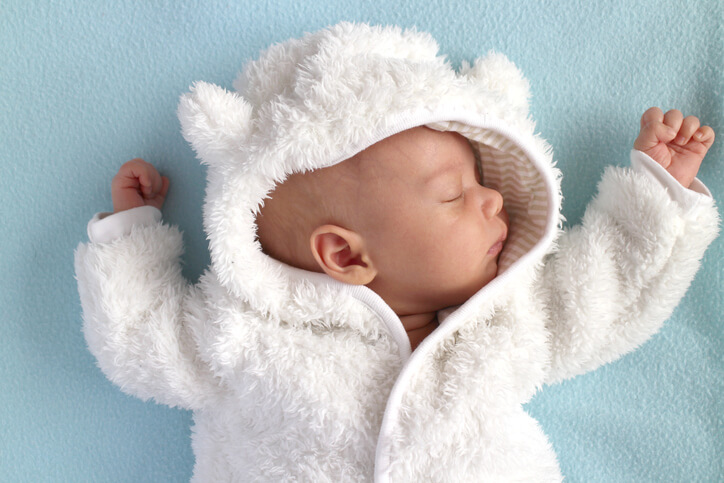 Baby winter teddy bear snow suit