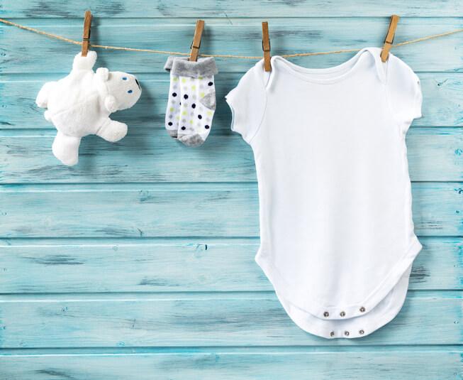 a newborn onesie