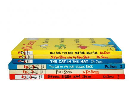 several best selling books by Dr. Seuss